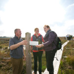 John Connolly, Project Manager, Caitlin Rigney, University of Limerick and Catherine O'Connell, IPCC at Scohaboy Bog - Conference September 2015