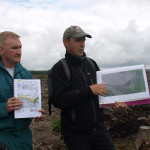 John Connolly, Project Manager and John Conaghan, Project Ecologist - site meeting