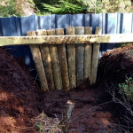 Bespoke dam installed in deep drain at Aughrim Bog