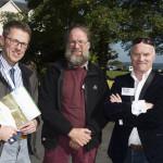 Maurice Eakin, NPWS; Jim Ryan, ecologist (formerly NPWS) and Gearoid O'Foighil, Cloughjordan Community Development Group