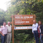 Honorary Jordanian Consul in Ireland and UK Jordanian Ambassador visiting Scohaboy Bog