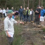 John Derwin, Project Ecologist presenting to visitors to Scohaboy Bog, August 2013