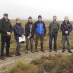 LIFE09 Project Team with Peter Hahn, Danish Nature Agency, at Lille Vildmose, Denmark - October 2013