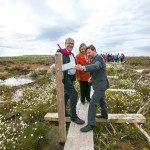 Minister Tom Hayes and Ciaran Fallon, Coillte at official launch of project in Scohaboy Bog