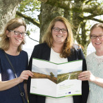 Janice Fuller, Ecologist, Suzanne Nally and Triona Muldoon - End of Project Conference Sept 2015