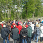 French Tourists visiting Scohaboy Bog - August 2014