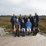 Back Row: L-R Philip Murphy, former Project EU Affairs Manager, Maurice Eakin, NPWS, Philip O'Dea, Coillte, Eugen Griffin, Project EU Affairs Manager, John Conaghan, Project Ecologist.  Front Row: L-R John Connolly, Project Manager, Sharon Byrne, Project PR, Aileen O'Sullivan, Coillte Company Ecologist and João Pedro Silva, EU LIFE Comms  - Conference Tour September 2015